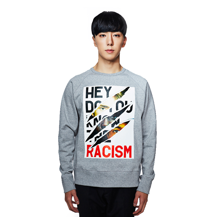 ANTI RACISM SWEATSHIRTS GRAY