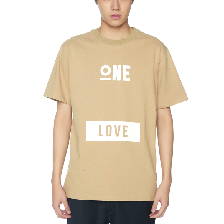 ONE LOVE T-SHIRTS [BEIGE]