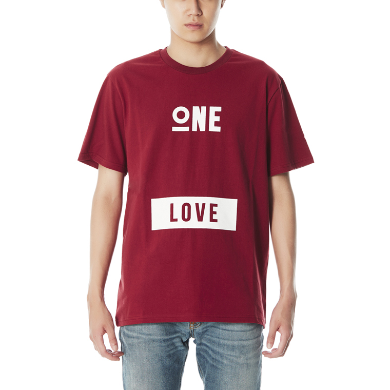 ONE LOVE T-SHIRTS [WINE]