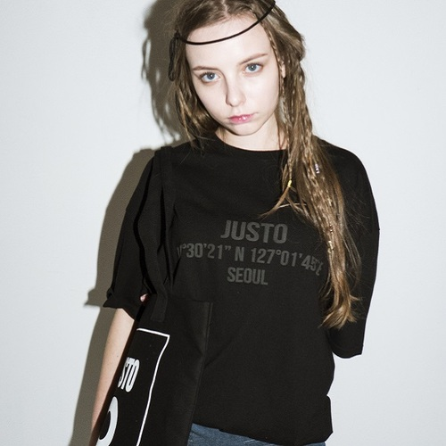 JUSTOBASIC T-SHIRTS[BLACK]