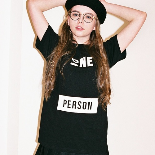 전사이즈재입고 ONEPERSON T-SHIRTS[BLACK]