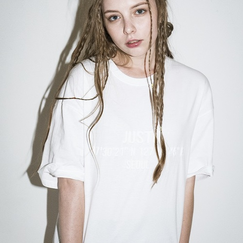 JUSTOBASIC T-SHIRTS[WHITE]