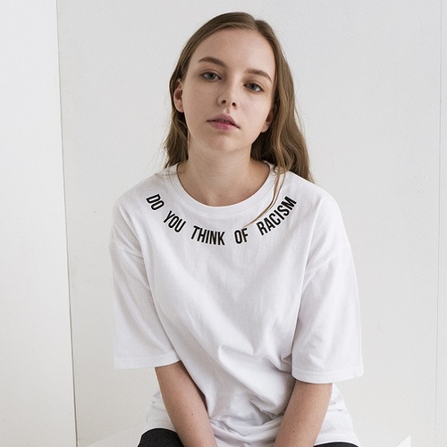 전사이즈재입고 ANTIRACISM T-SHIRTS[WHITE]