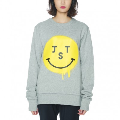 JUSTO SMILE SWEATSHIRTS [GREY]