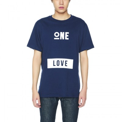 ONE LOVE T-SHIRTS [NAVY]