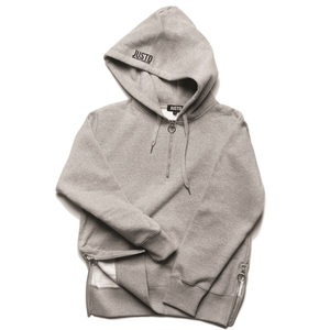 RING ZIPPER HOODIE[GREY]