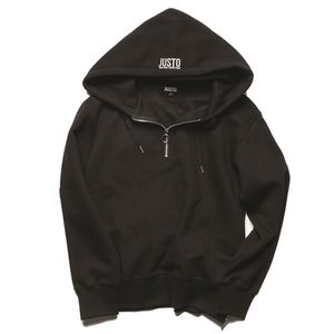 RING ZIPPER HOODIE[BLACK]