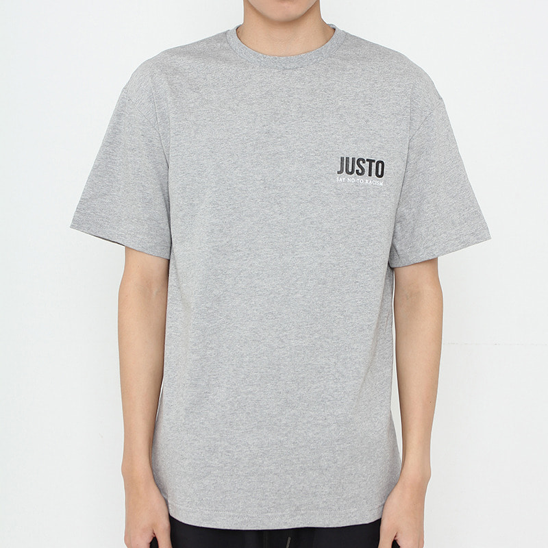 JUSTO POLICE ARREST T-SHIRTS[GRAY]