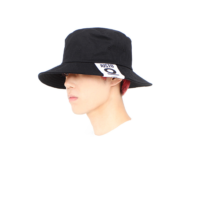 JUSTO LABEL BUKET HAT[BLACK]