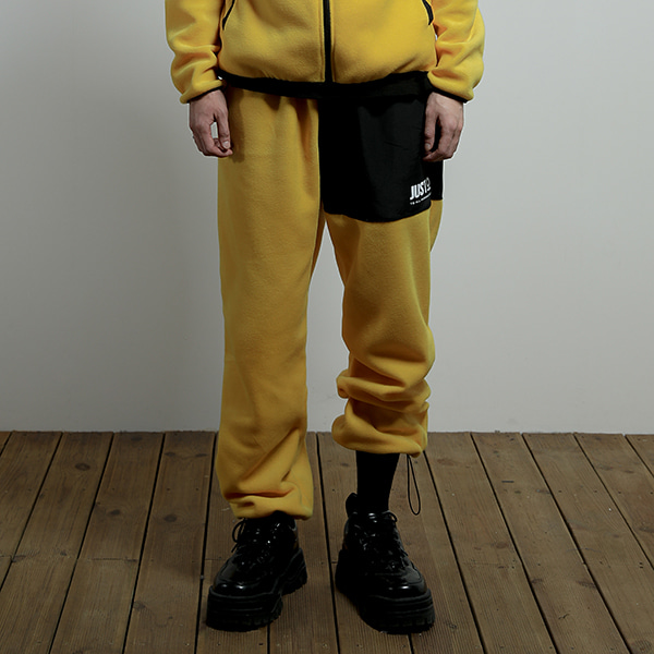 JUSTO fleece pants[yellow]