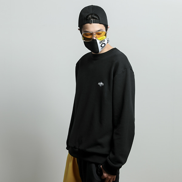 illusion sweat shirt[black]