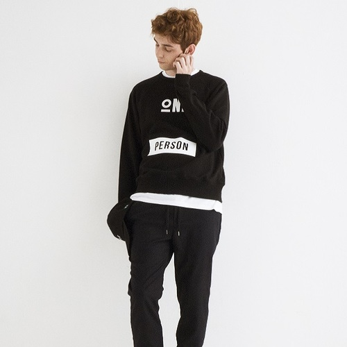 ONEPERSON SWEATSHIRTS[BLACK]