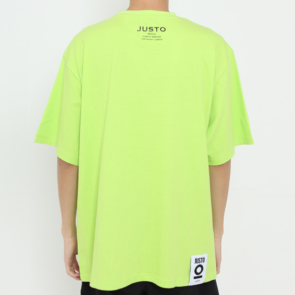 JUSTO POCKET OVER T-SHIRTS[LIME]