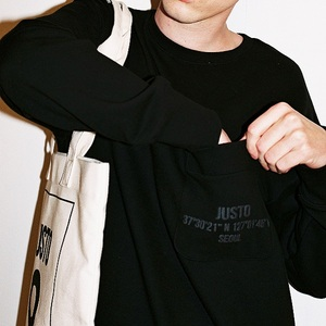 POCKET LOOSEFITSWEATSHIRTS[BLACK]