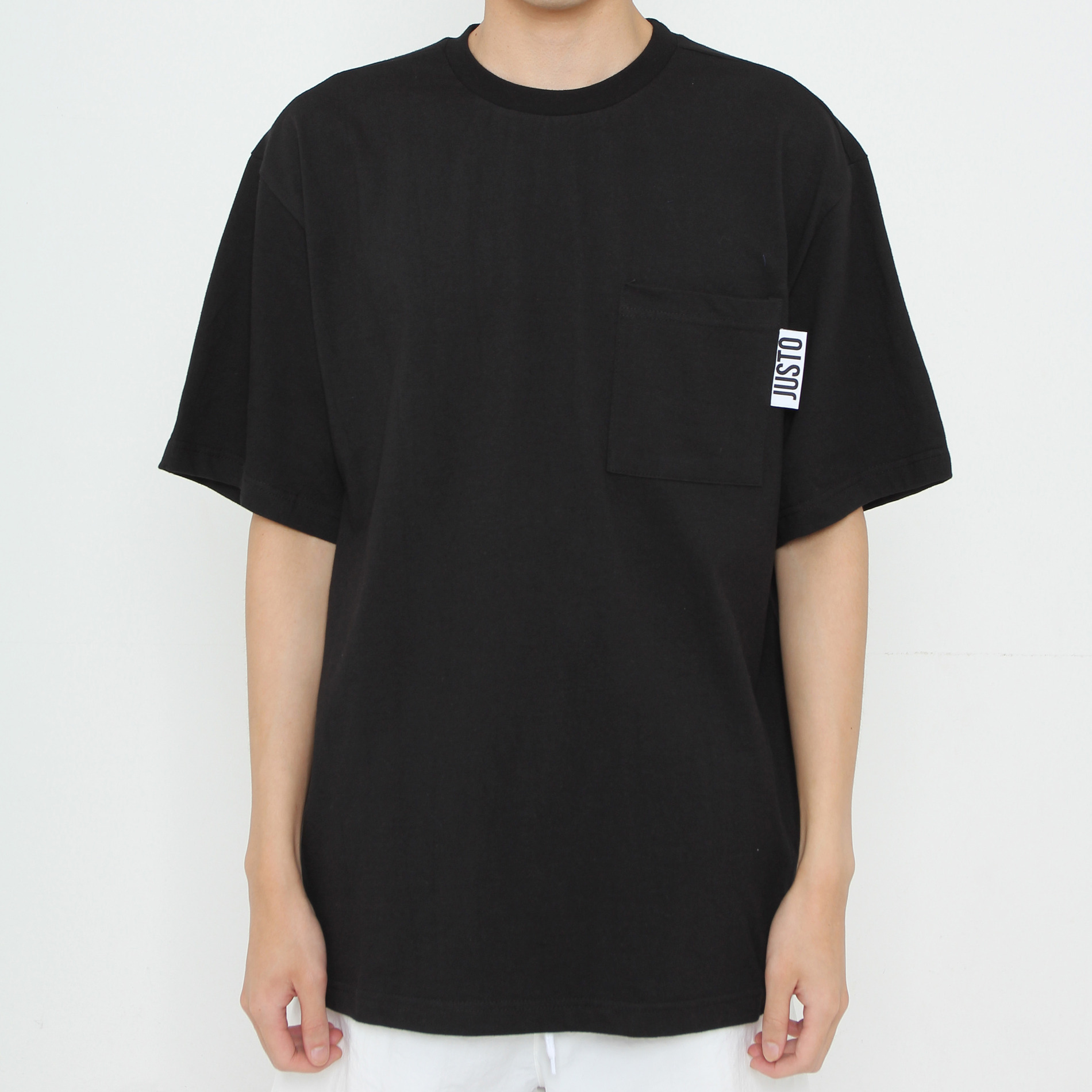 JUSTO POCKET OVER T-SHIRTS[BLACK]