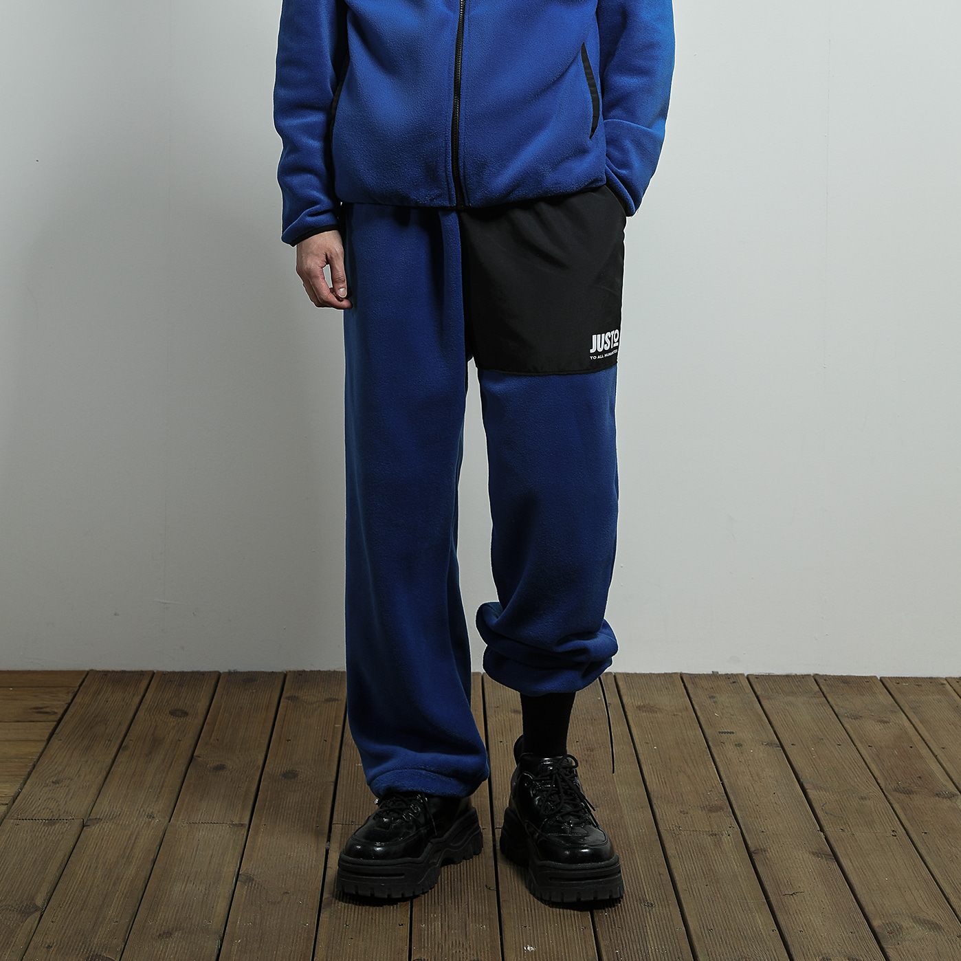 JUSTO fleece pants[blue]