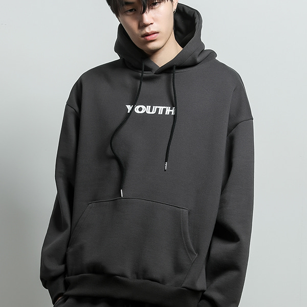 youth printed hoodie[darkgray]
